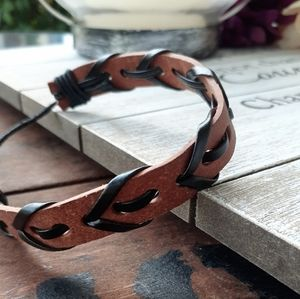 2 for $10 braided leather cuff bracelet new!